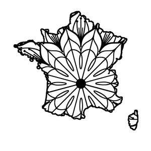 France Map Mandala - France Map Mandala Svg -