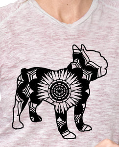 French Bulldog Mandala Animals SVG