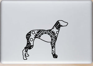 Greyhound Dog Hot Summer Mandala Designs