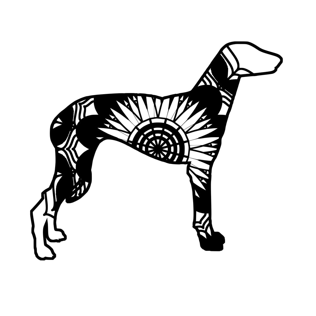 Greyhound Dog Mandala Animals SVG