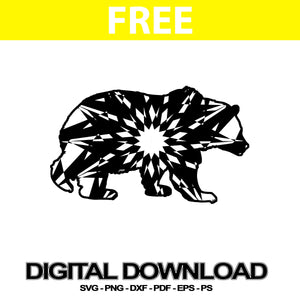 Grizzly Bear Svg Downloads