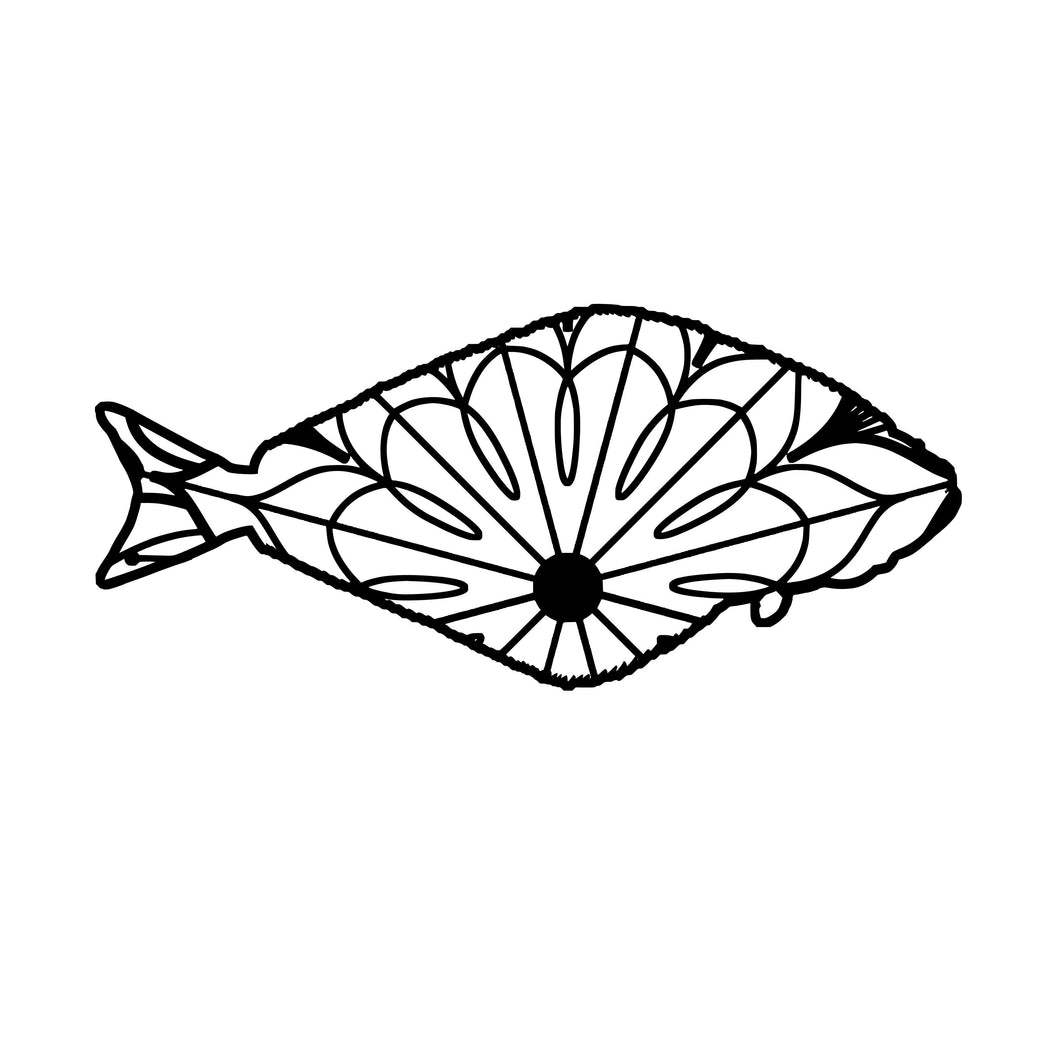 Halibut Mandala - Halibut Mandala Svg -