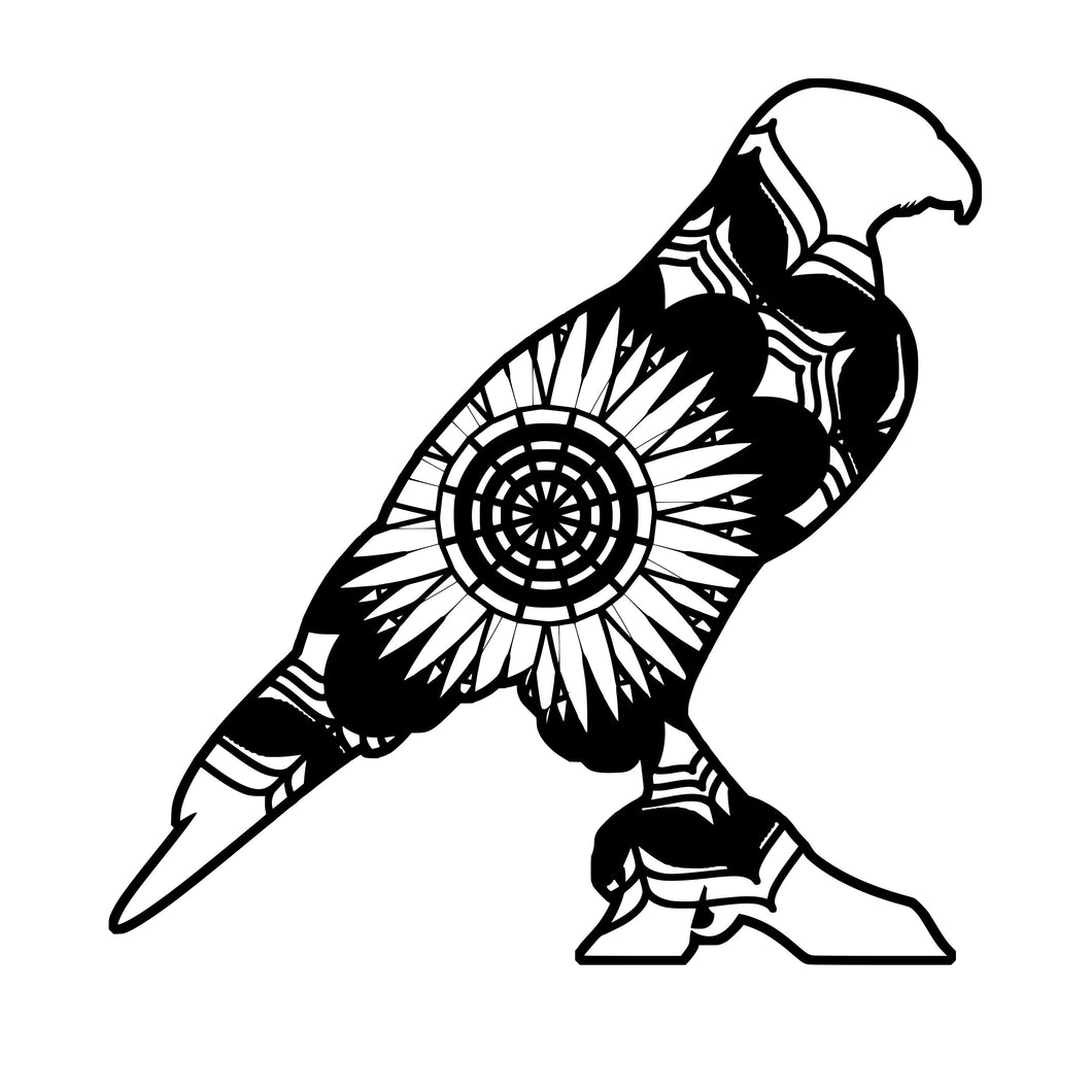 Hawk Mandala Animals SVG