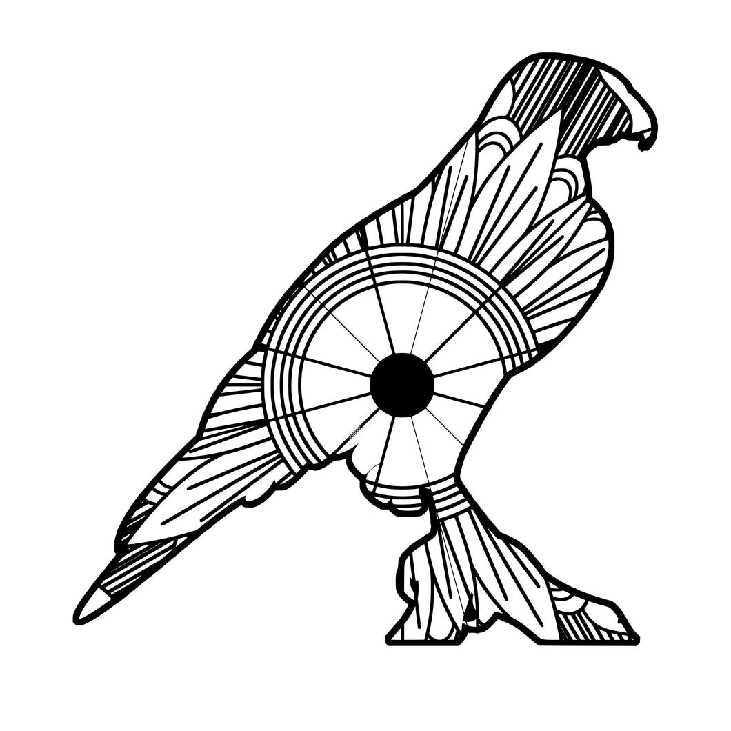 Hawk Mandala SVG