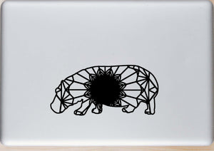 Hippopotamus Mandala Animal SVG, PNG, DXF & EPS Cut File Download