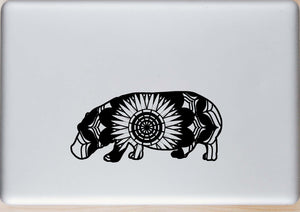 Hippopotamus Mandala Animals SVG