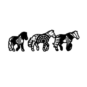 Horses Running Mandala Animals SVG