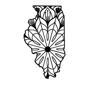 Illinois Map Mandala - Illinois Map Mandala Svg -