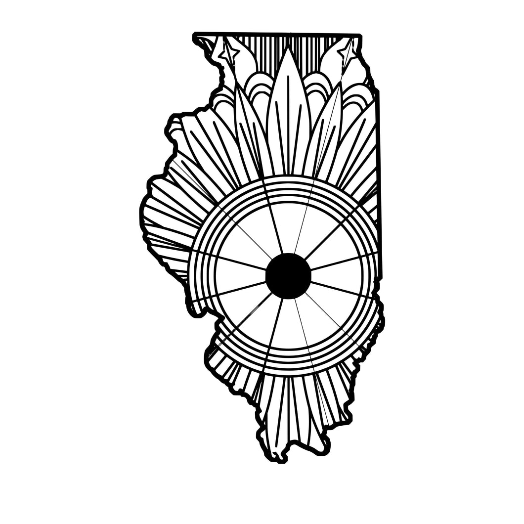 Illinois Map Mandala SVG