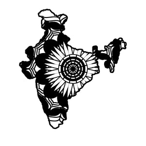 India Map Mandala Animals SVG