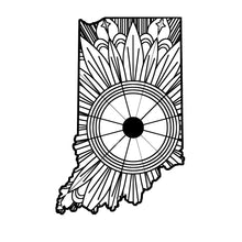 Indiana Map Mandala SVG