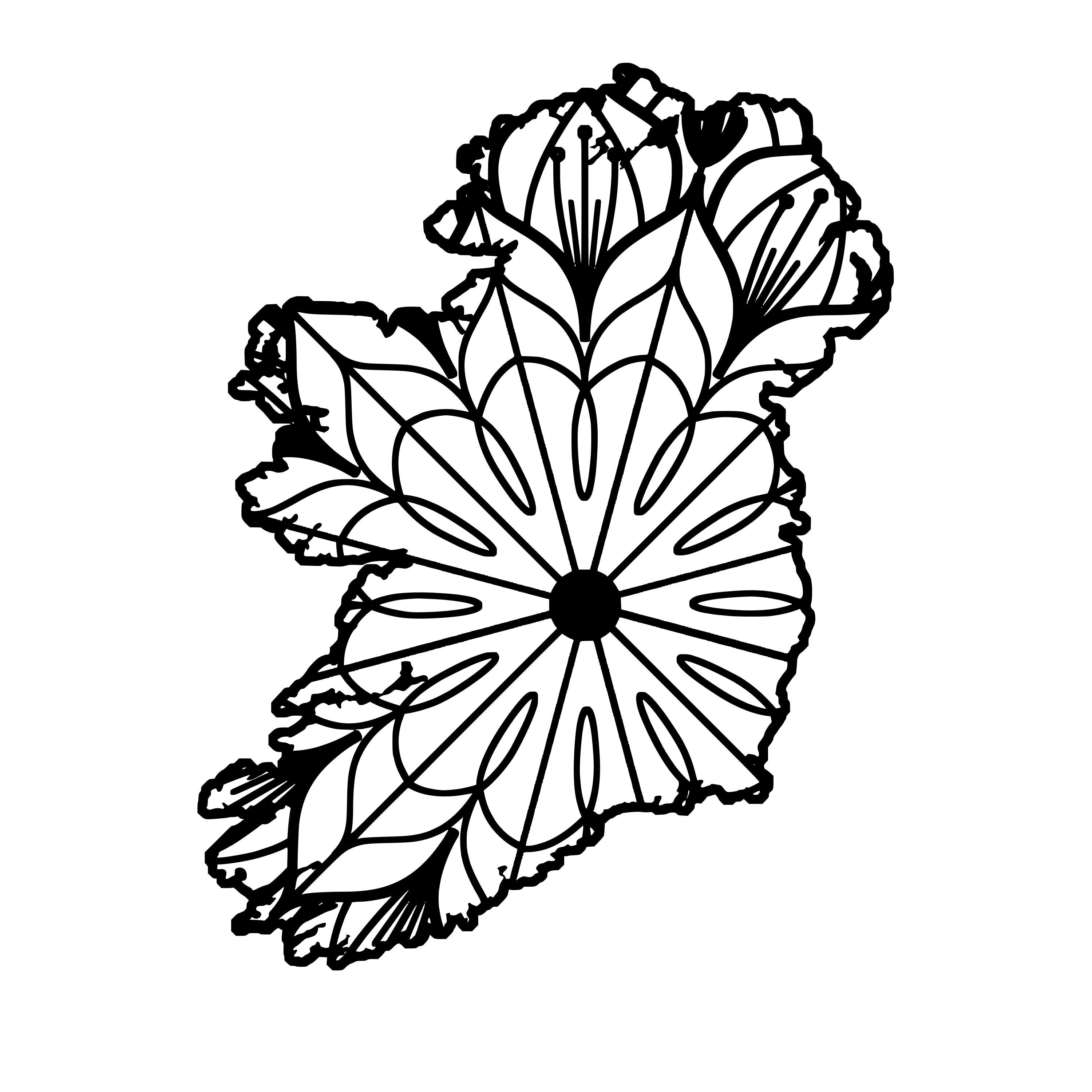 Ireland Map Mandala Ireland Map Mandala Svg