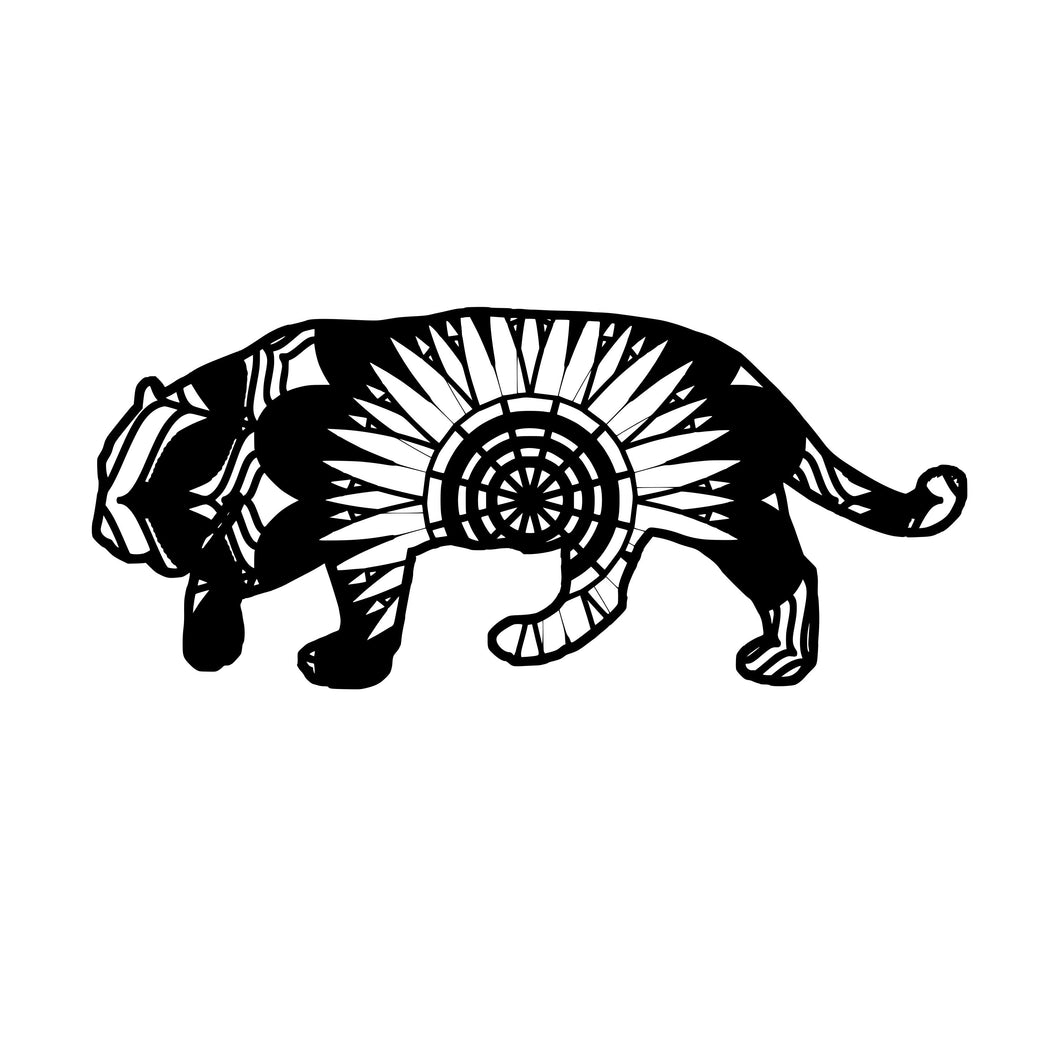 Jaguar Mandala Animals SVG
