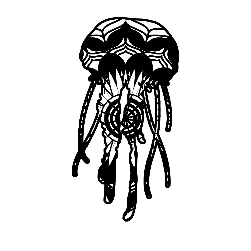 Jellyfish 1 Mandala Animals SVG