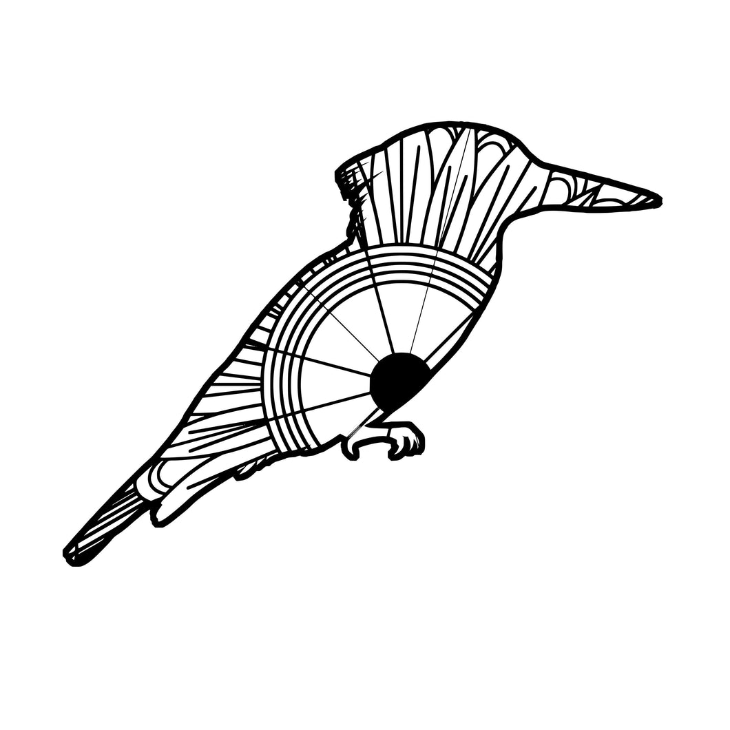 Kingfisher Mandala SVG