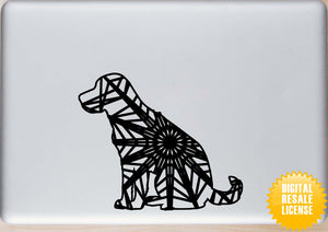 Labrador Retriever Sitting Mandala