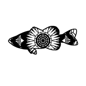 Largemouth Bass Mandala Animals SVG