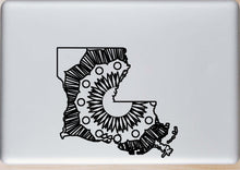 Louisiana Map Hot Summer Mandala Designs
