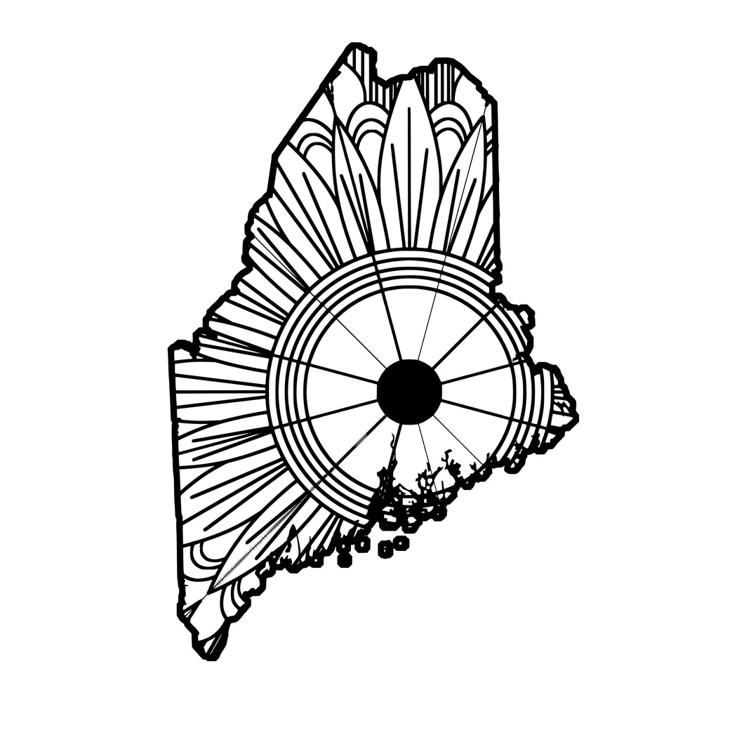 Maine Map Mandala SVG