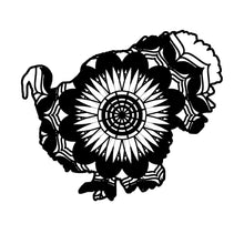 Male Turkey Mandala Animals SVG