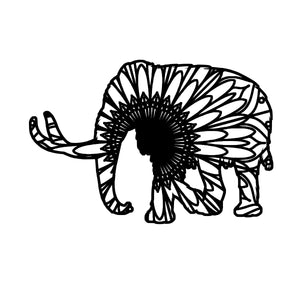 Mammoth Mandala - Mammoth Mandala Svg - Mammoth Animal Mandala Svg - Mammoth Mandala Monogram