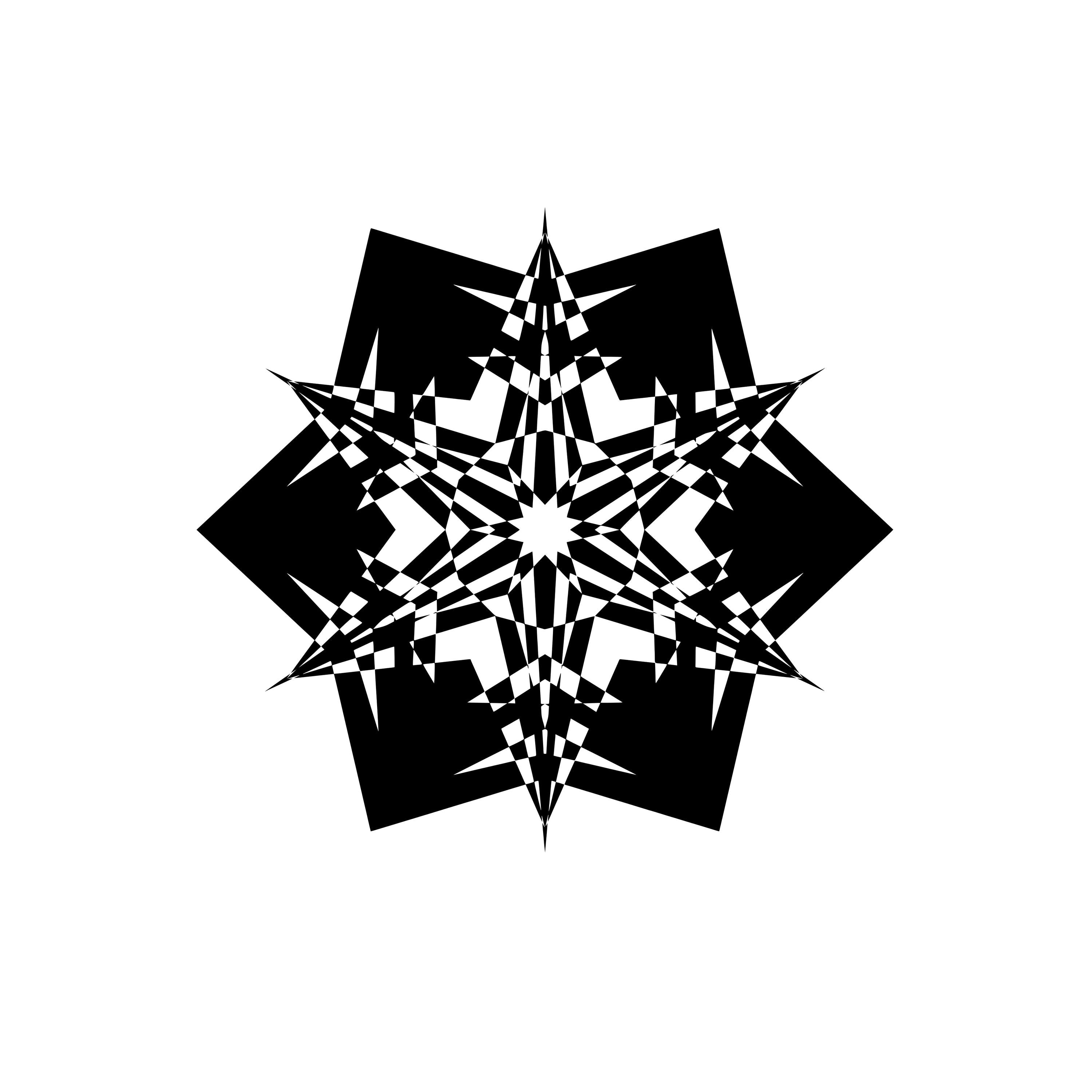 Svg Silhouette Mandala Black And White