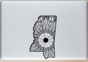 Mississippi Map Mandala SVG
