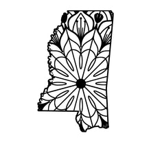 Mississippi Map Mandala - Mississippi Map Mandala Svg -