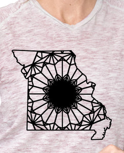 Missouri Map Mandala Animal SVG, PNG, DXF & EPS Cut File Download