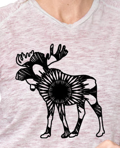 Moose Deer Mandala Monogram Free SVG, DXF, PNG, EPS DOWNLOAD