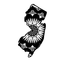 New Jersey Map Mandala Animals SVG