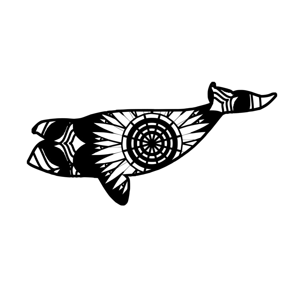 North Pacific Right Whale Mandala Animals SVG