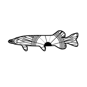 Northern Pike Mandala SVG