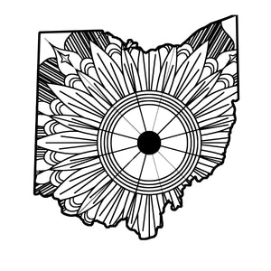 Ohio Map Mandala SVG