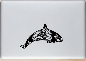 Orca Whale Mandala Animals SVG
