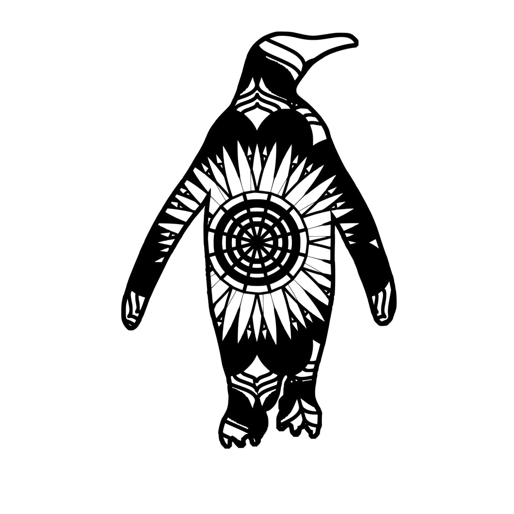 Penguin Mandala Animals SVG