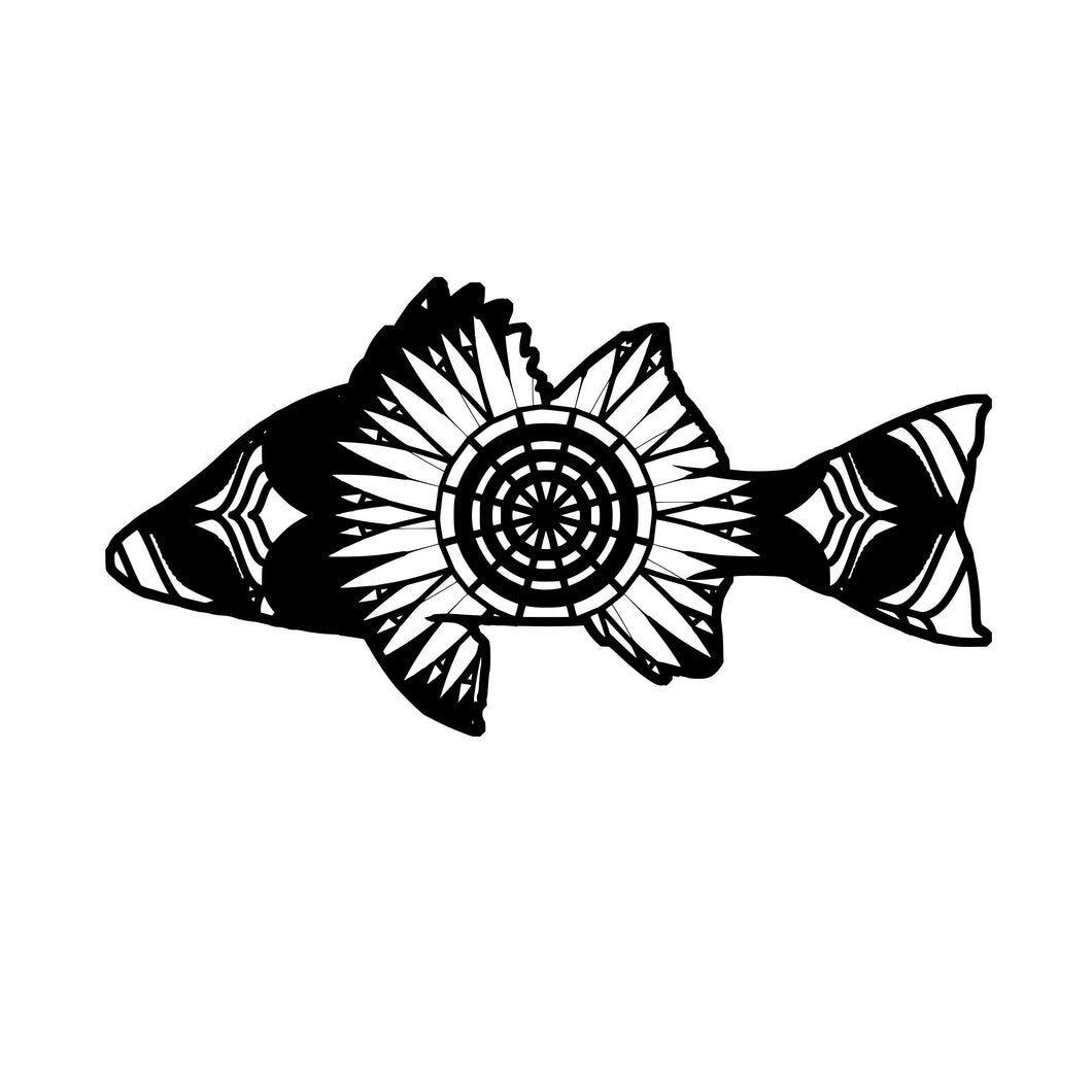 Perch Mandala Animals SVG
