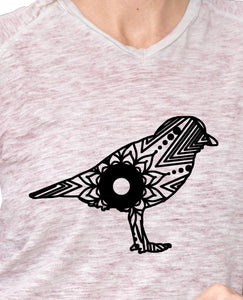 Piping Plover Mandala Animal SVG