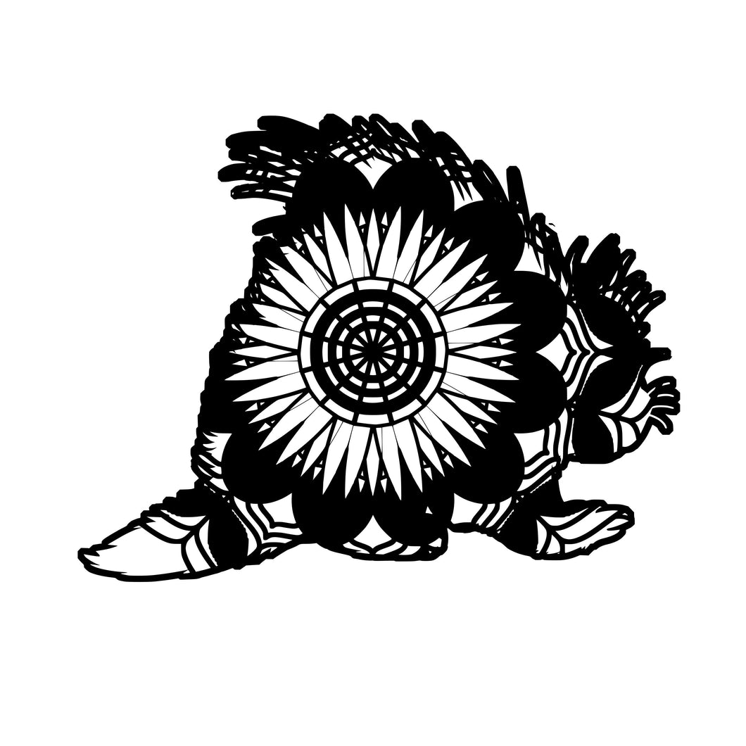 Porcupine Mandala Animals SVG