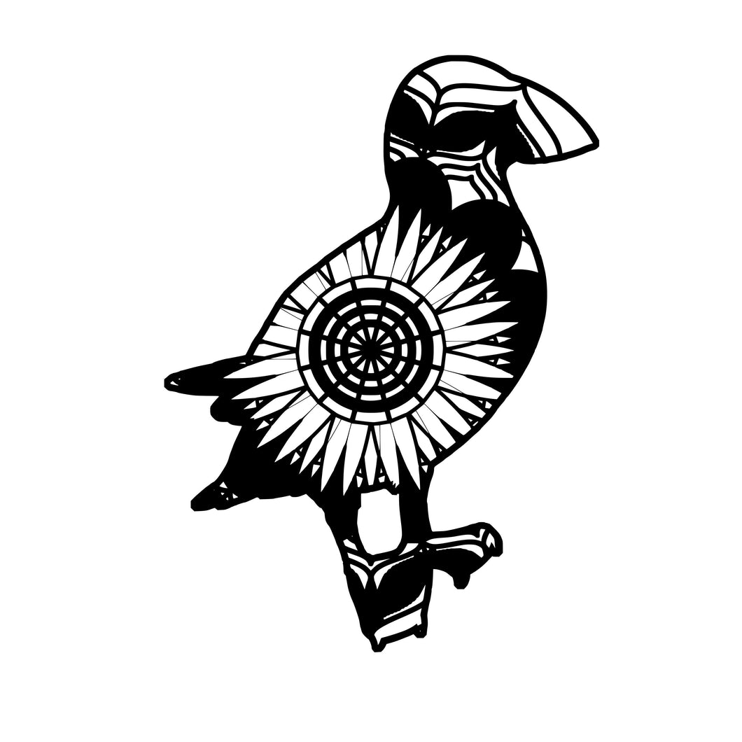 Puffin Mandala Animals SVG