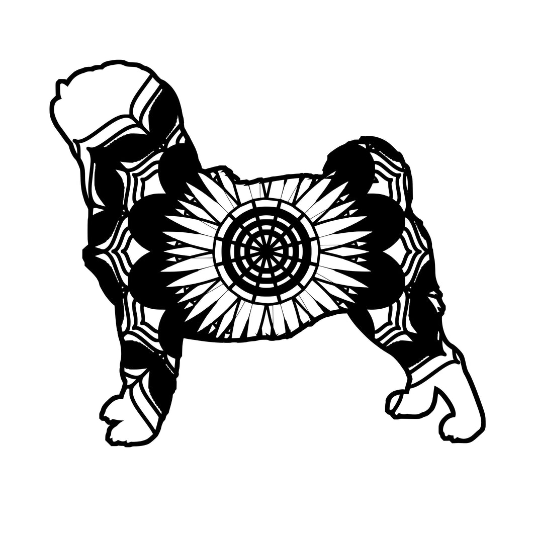 Pug Mandala Animals SVG