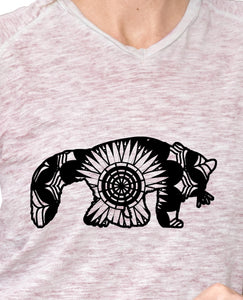 Red Panda Mandala Animals SVG