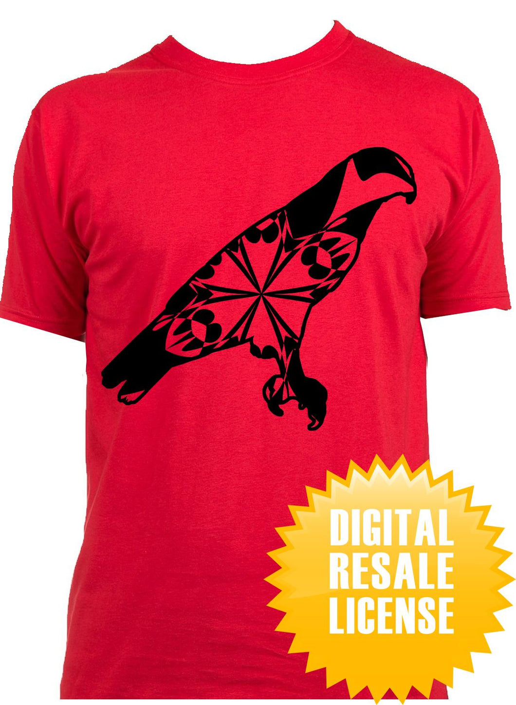 Red Tailed Hawk Mandala Winter SVG