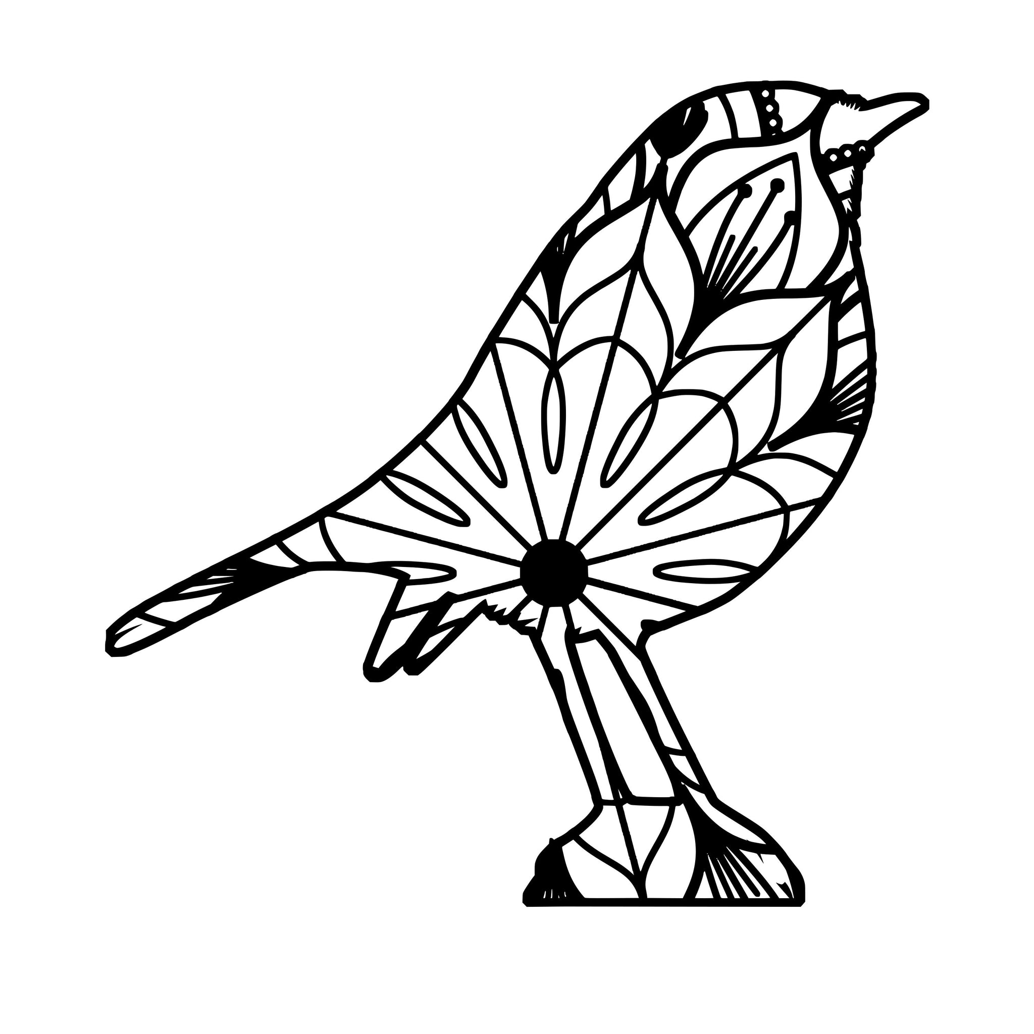 robin bird mandala robin bird mandala svg mandala svg dxf png