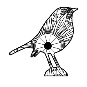 Robin Bird Mandala SVG