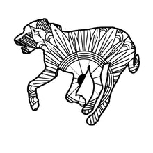 Running Dog Mandala SVG