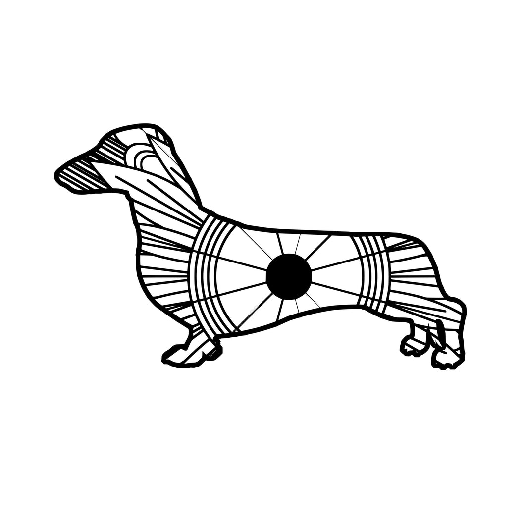 Sausage Dog Mandala SVG