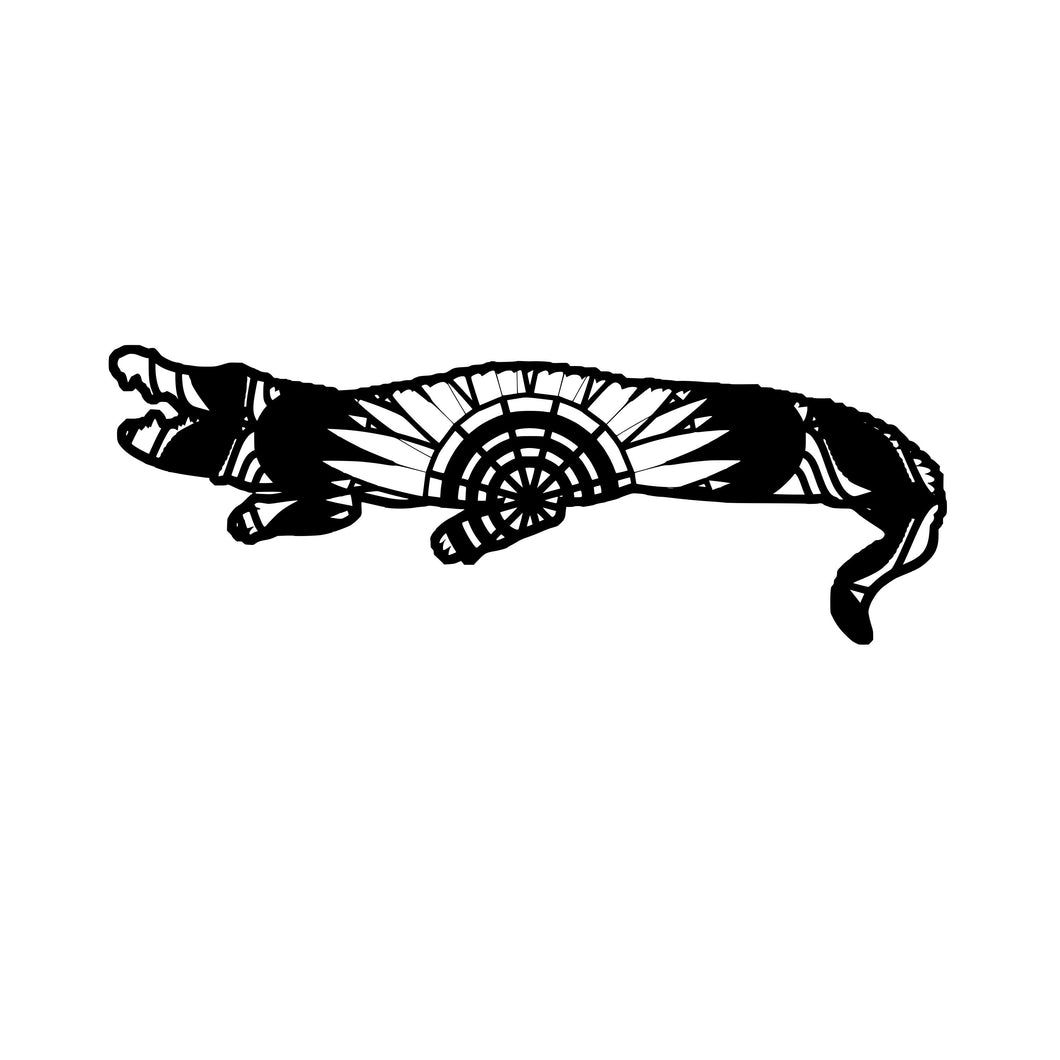 Siamese Crocodille Mandala Animals SVG