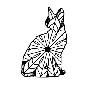 Sitting Cat Mandala - Sitting Cat Mandala Svg -