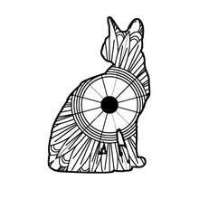 Sitting Cat Mandala SVG